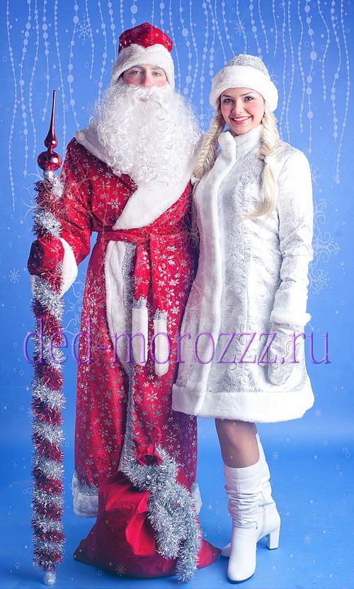 фото деда мороза и снегурочки с елкой